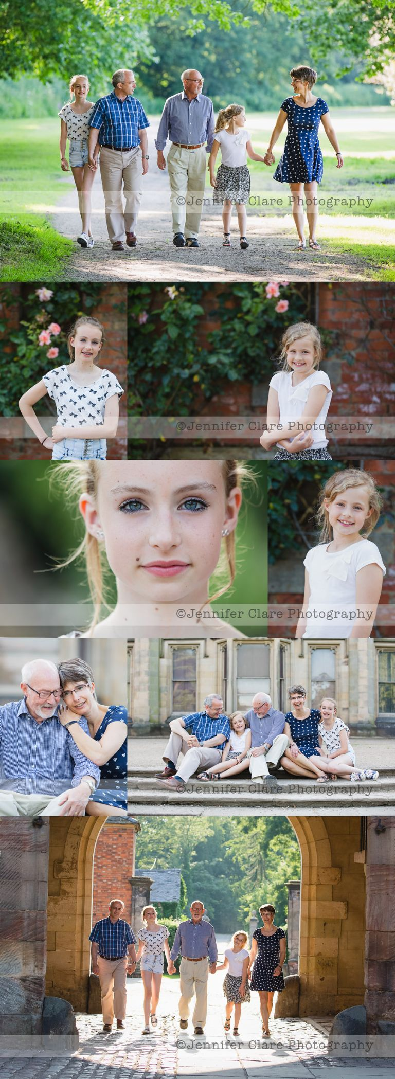 A collection of family photographs, created at Elvaston, Derbyshire.