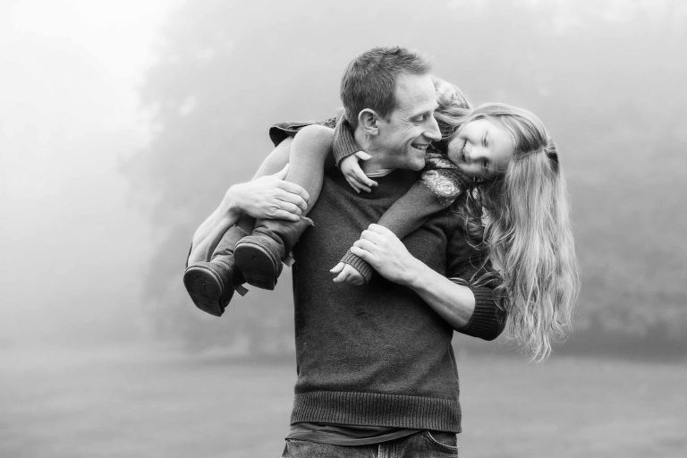 photographer Derby, offering child and family portraits; like this shot of a father and daughter having fun together.