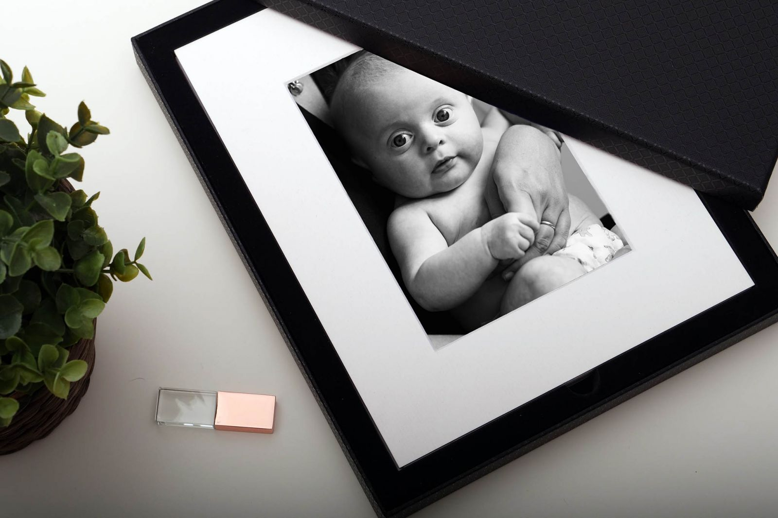 Collection of mounted fine art photos with files on usb